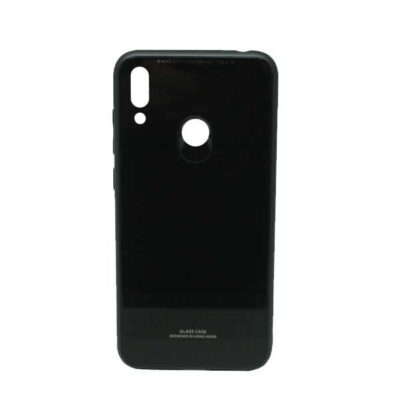 ΘΗΚΗ IPHONE X/XS GLASS CASE ΜΑΥΡΟ